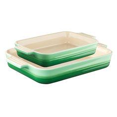 Dish Set Stoneware w/ rectangular Dishes, Rosemary - Le Creuset - Le Creuset - RoyalDesign.co.uk