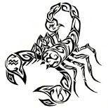Scorpion tattoo design
