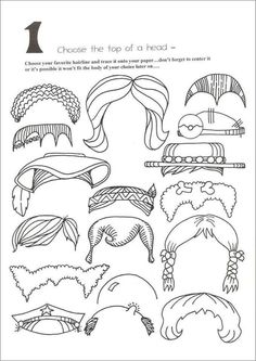 10 page cartoon head pieces, body parts for your kids to trace and create different characters. I loved these when I was little. Cartoon Head, Cartoon Faces, Funny Faces, Cartoon Crazy, Cartoon Characters, Cartoon Drawing For Kids, Cartoon Drawings, Art Drawings, Drawing Lessons