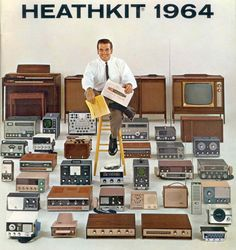 "Remarkably Retro - HealthKit From ""The Kitsch Meow"" on. Gloucester, Electronics Gadgets, Tech Gadgets, Vintage Advertisements, Vintage Ads, Vintage Music, Radios, Baby Boomer Era, Electronic Kits"