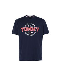 TOMMY JEANS T-shirt. #tommyjeans #cloth Tommy Jeans T Shirt, Skull Wallpaper, Mens Tee Shirts, Pajama, Tommy Hilfiger, Dark Blue, Men's Fashion, Short Sleeves, Sweatshirts