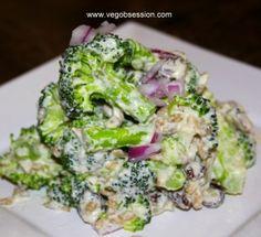 Raw Vegan Broccoli Salad