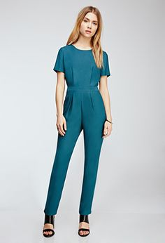 Short-Sleeved Crepe Jumpsuit | FOREVER21 - 2000060088