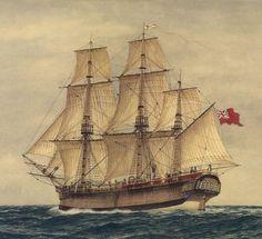 First Fleet ship HMS 'Sirius' (Marine Artist Frank Allen)