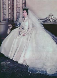 Arrayed in Gold:  Princess Margaret - Wedding Gown