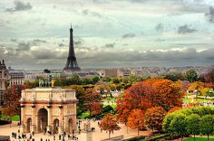 A view of Paris in the fall.