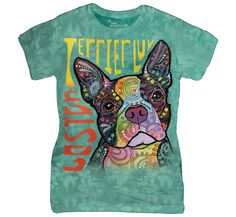 This is a beautiful tee shirt for Boston Terrier lovers - a great piece to add to any wardrobe. Our Boston Terrier Luv Ladies Tee Shirt is made extremely well, Boston Terriers, Boston Terrier Love, Terrier Breeds, Terrier Puppies, Pitbull Terrier, Anne Stokes, Pet Dogs, Dogs And Puppies, Pets