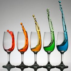 Cheers higher with colorful splashes from wine glasses by William Lee - Photo 174464153 / 500px