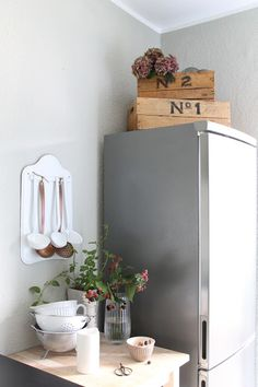 Grau Gestrichene Küche