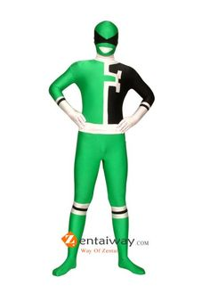 Green Dekaranger Power Ranger Spandex Costume