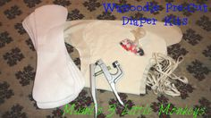 Wazoodle Precision Cut Bamboo Fitted Cloth Diaper Kit w/KAM Snaps.  KAMsnaps.com