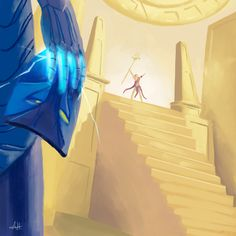 """ACT V- XERATH  ARTIST: Arthur Hesli PAGE: https://www.artstation.com/artist/ahilustra """"And so, Xerath was elevated and educated, eventually becoming Azir's trusted right hand – but never a free man. The soured promise ate into what he was, and what he could have been. Denied a small, simple thing, the right to live his life, Xerath decided to take everything, all of the things denied to him, all of the things he deserved: the empire, Ascension, and the absolute purest form of freedom…"""