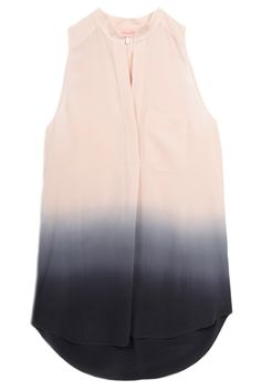 Rebecca Taylor Ombre Sleeveless Shirt