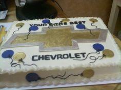 Chevy logo 30th Birthday Cakes For Men, Boy 16th Birthday, Truck Birthday Cakes, Birthday Sheet Cakes, Truck Cakes, Car Cakes, Birthday Ideas, Fondant Cake Tutorial, Cake Fondant
