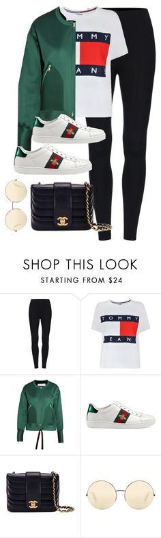 """""""Untitled #3783"""" by theaverageauburn ❤ liked on Polyvore featuring Tommy Hilfiger, Victoria, Victoria Beckham, Gucci, Chanel and Victoria Beckham"""