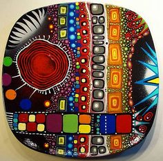 sterling j sterling Funky Furniture, Painted Furniture, Handmade Wall Clocks, Plates On Wall, Rock Art, Fused Glass, Zentangle, Painted Rocks, Abstract Art