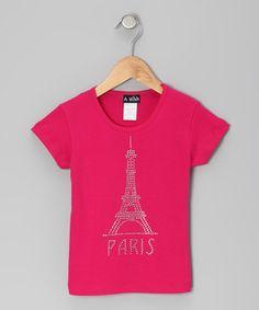 Love this A Wish Fuchsia 'Paris' Eiffel Tower Tee - Infant, Toddler & Girls by A Wish on #zulily! #zulilyfinds