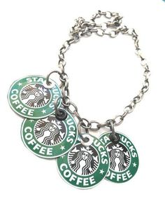 Recycled Starbucks Necklace Starbucks Jewelry Upcycled Eco Friendly Jewelry Gift** Will be made with NEW LOGO** Starbucks necklace, Starbucks lovers! Women jewe