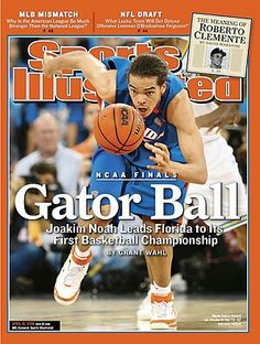 Joakim Noah (April Sports Illustrated Signed NL Magazine - JSA Certified - Autographed NBA Magazines -- You can find out more details at the link of the image. Joakim Noah, Ncaa Final Four, Sports Illustrated Covers, National Championship, National League, Lineman, College Basketball, Florida, Baseball Cards