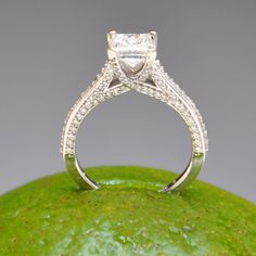 Square Princess Diamond in 14K White Gold