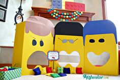 Bean Bag Toss Game   The Lego Movie --- could make from cereal boxes??