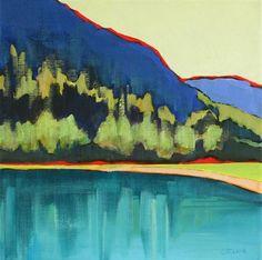 """""""Mountain Lake Color"""" - Original Fine Art for Sale - © Carolee Clark"""