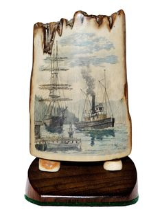 https://flic.kr/p/dF9aVw | IMG_0235 | Color scrimshaw on ancient mammoth ivory.