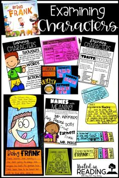 How to Examine Characters with Character Traits (thoughts, words, actions) using the book Being Frank