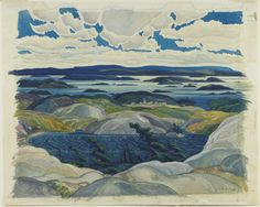 artgalleryofontario:  Bay of Islands, 1930 Franklin Carmichael (Canadian) Watercolour, watercolour on paper, 51.3 x 64.4 cm Gift from Friends of Canadian Art Fund, 1930