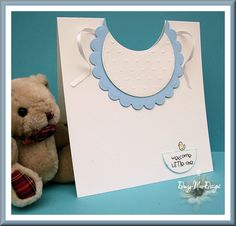 baby boy bib card, nesties