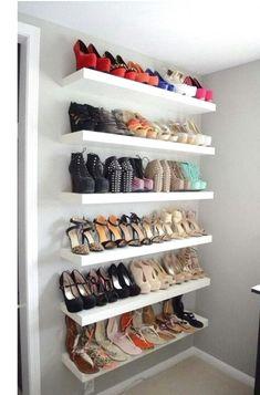 Shoe display ideas photo 4 of 4 best shoe display ideas on shoe wall shoe shelf . Shoe Display, Display Shelves, Wall Shelves, Display Ideas, Shelf, Display Stands, Teen Room Decor, Room Decor Bedroom, Sneaker Storage