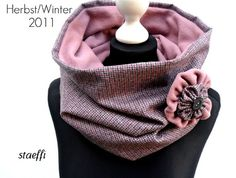 winter loop (scarf) , I'd do it without brooch in other textures and colors