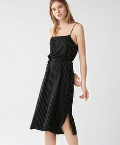 Striped nightdress - New In - Spring Summer 2017 trends in women fashion at Oysho online. Find lingerie, pyjamas, slippers, nighties, gowns, fluffy, maternity, sportswear, shoes, accessories, body shapers, beachwear and swimsuits & bikinis.
