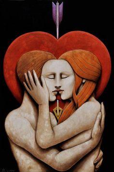 6 - VI - Amanti - Lovers - Amoureux - innamorato o amore o prova o scelta o cupido o eros - tarocchi - matteo arfanotti tarot Sacred Feminine, Divine Feminine, Ram Dass, Twin Souls, Les Religions, Wow Art, Tantra, Oeuvre D'art, True Love