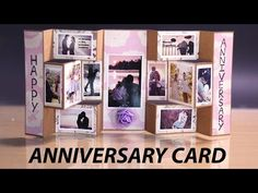 Happy Anniversary Card - Handmade Tri Shutter Card for Anniversary Gift - YouTube
