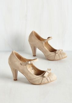 Live in the Presents Heel in Beige. Give the gift of perfect style each time you exhibit these beige pumps for a night out. #tan #modcloth