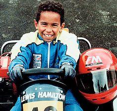 Lewis Hamilton in childhood