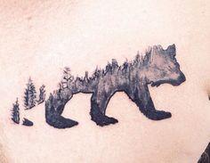 bear tree tattoo