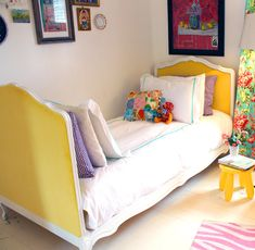 Little Green Notebook: Reader DIY: Making an Upholstered Daybed