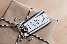 punched gift tag.