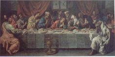 """Cuadro """"Última Cena"""" realizado por Luis Tristán  (Discípulo del Greco) en 1614. Cuerva.  Ubicado en la Capilla de Reliquias."""