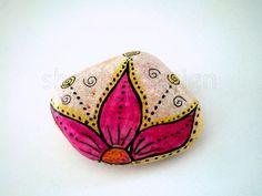 Lotus~ Painted Rock
