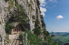 Aescher, Switzerland | shutthefstop Switzerland, Cabin, Explore, House Styles, Cabins, Cottage, Exploring, Wooden Houses