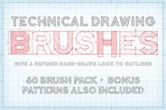 Technical Drawing Brushes by The Artifex Forge on Creative Market