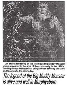 Murphysboro Mud Monster During the summer of a town by the name of Murphysboro in the southwestern part of Illinois was the location of several bizarre sightings of an unknown creature that. Bigfoot Documentary, Creepy Catalog, Bigfoot Party, Bigfoot Photos, Finding Bigfoot, Bigfoot Sightings, Project Blue Book, Horror Tale, Bigfoot Sasquatch