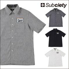 SUBCIETY サブサエティ Subciety EMBLEM SHIRT S/S エンブレム半袖シャツ 半袖 シャツ ワークシャツ ロック系 バンド系