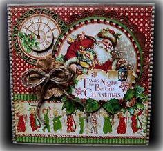 Graphic 45 Twas the Night before Christmas Handmade Greeting Card