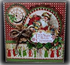 Graphic 45 Twas the Night before Christmas Handmade Greeting Card