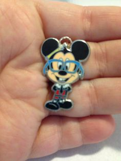 Nerdy Mickey Mouse Up-Cycled Disney Trading PINdant Necklace on Etsy, $10.00