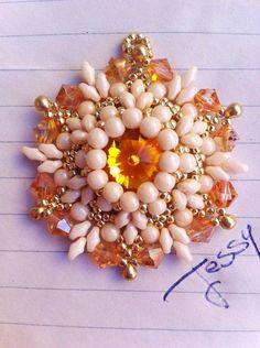 "Tutorial Pendente "" Passion Life "" bezel rivoli swarovsky with beads and superduo"